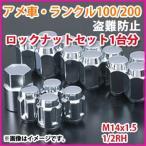 ランクル100/200/シグナス:アメ車用 M14x1.5ロックナットセット ※ホイールと同時購入で送料無料!