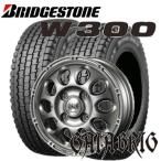 145R12 6PR 軽トラック・軽バン用スタッドレスタイヤ4本セット ブリヂストン W300 12X3.50B 4穴 PCD:100 GAIA BRIG