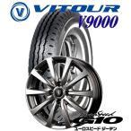 【ホワイトリボンタイヤ】軽トラック・軽バン用5.00R12LT VITOUR V9000  12X4.00B 4穴 PCD:100 EUROSPEED G10