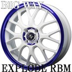 軽自動車【アルミ単品4本価格】BIGWAY/ EXPLODE-RBM/エクスプラウドRBM(white)15X5.0J 4穴 PCD:100