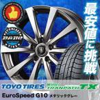 195/65R15 91Qトーヨー タイヤ ウィンタートランパス TX Euro Speed G10 スタッドレスタイヤホイール4本セット