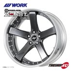 4本購入で送料無料 WORK BACK LABEL ZEAST BST2 20x10.0J 5/114.3 W Disk (ディープリム) BSB 選べるオフセット新品ホイール1本価格