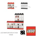 LEGO MINIFIGURE-DISPLAYCASE8 (4 KNOB)  Bright Red/Black レゴ ミニフィギュア ディスプレイケース8/ROOM COPENHAGEN/Storage/8体収納