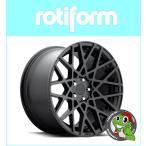 【Audi A4 8K】 【Rotiform BLQ R112】19×8.5J ET45 Matte Black 【245/35R19】
