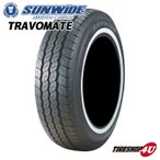 送料無料 SUNWIDE TIRE サンワイド TRAVOMATE 195R15 106/104R 195-15 8PR ホワイトリボン サマータイヤ