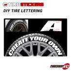 【A】TIRE STICKERS DIY TIRE LETTERING タイヤステッカーDIYレタリング 1文字4枚入り ホワイトレター ホワイトレター
