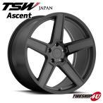 18インチ【TSW Ascent(アセント)】18×8.5J 5/112 +32【マットガンメタルw/グロスブラックフェイス】【1885】