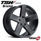 18インチ【TSW Bristol(ブリストル)】18×8.5J 5/114.3 +40【マットブラック】【1885】