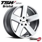 18インチ【TSW Bristol(ブリストル)】18×8.5J 5/120 +30【シルバー/ミラーカットフェイス】【1885】