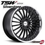 18インチ【TSW Silverstone(シルバーストーン)】18×8.0J 5/110 +40【グロスブラックw/ミラーカットリップ】【1880】