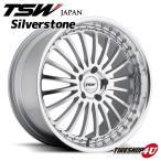 18インチ【TSW Silverstone(シルバーストーン)】18×8.0J 5/110 +40【シルバーw/ミラーカットフェイス&リップ】【1880】