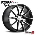 18インチ【TSW Sprint(スプリント)】18×8.5J 5/120 +20【グロスブラックw/ミラーカットフェイス】【1885】