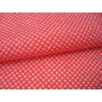 正絹ちりめん生地 単色柄 鹿の子型絞り横引(赤系) 31cmX50cm 縮緬細工に最適な絹生地
