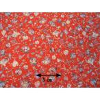 正絹ちりめん生地  多色柄 宝尽し 赤 31cmX50cm 縮緬細工に最適な絹生地