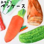 ペンケース おもしろい かわいい ペンポーチ 野菜 ゴーヤ 白菜 にんじん お肉 生肉 タケノコ 筆箱 薄型 食べ物 おしゃれ 可愛い