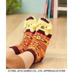 ポムポムプリンルームソックス pnzfwcc2902   チチカカ キャラクター サンリオ SANRIO 靴下 くつ下 ソックス 部屋履き フットウェア コラボ プレゼント ギフト