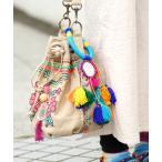 ショッピングフリンジ フリンジポンポンチャームM 小物 雑貨 フリンジ ストラップ カラフル インド アソート バッグ 調 ふわふわ もこもこ 可愛い