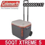 コールマン クーラーボックス 50QT エクストリーム 5 ホイールクーラー グレイ/オレンジ(3000005157)