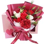 ソープフラワー 花束ギフト バラ カーネーション シャクヤク フラワー 誕生日プレゼント 結婚記念日 女性 人気プレゼント 母の日 先生の日