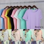 Yahoo!TmanTシャツ 半そでTシャツ カットソー ゆったり トップス 無地 サラサラ 半袖 半そで 大きいサイズ 夏新作 送料無料