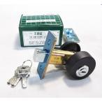 川口技研 本締錠 SF5ZB シリンダー錠 黒つや消し ブラック ドアの補助錠 ディンプルキー3本付き バックセット51mm