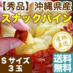スナックパイン パイナップル フルーツ Fruits 沖縄県石垣島産 母の日 ギフト 秀品 Sサイズ 3玉 送料無料 産地直送