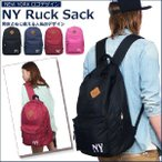 NY ニューヨーク ロゴ 刺繍 リュックサック メンズ