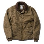 2色) 厚手 内側 ボア N-1 ミリタリー デッキ ジャケット 防寒 暖かい ロゴ ブルゾン n1 n-1 N1 DECK JKT NAVY M L XL