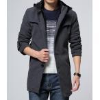 メンズ ボアコート 厚手 コート ジャケット 立ち襟 ハーフ丈