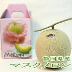 メロン 静岡産 温室 マスクメロン 1玉 約1.5kg 白級 化粧箱 温室メロン 高級メロン