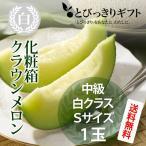 静岡県産 クラウンメロン 白クラス 化粧箱 Sサイズ 1玉 1.2kg