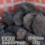 溶岩石 ミックスブラック 50-100mm 約12kg以上 庭園 鉢 水槽