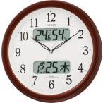 【アウトレット品】シチズン電波掛け時計「ネムリーナカレンダーM01」4FYA01-097-06