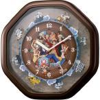 【お取寄せ品の為、代引き不可】リズム時計製掛時計「ワンピースからくり時計」4MH880-M06