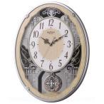 【お取寄せ品の為、代引き不可】リズム時計製電波掛時計「スモールワールドクラッセ」4MN538RH23