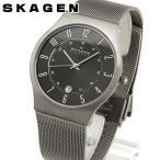 SKAGEN スカーゲン 233XLTTM グレーメンズ 腕時計 チタン ステンレス メンズ 腕時計