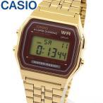 ネコポス送料無料 専用BOXなし CASIO チープカシオ チプカシ スタンダード ベーシック メンズ レディース 腕時計 ブラウン ゴールド A159WGEA-5 海外モデル