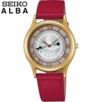 21日まで最大24倍 SEIKO セイコー ALBA アルバACCK408 国内正規品 魔女の宅急便 レディース キッズ 腕時計 赤 レッド ゴールド 革 レザー