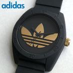 アディダス adidas サンティアゴ ADH2912 ブラック メンズ レディース 腕時計 時計 黒 金