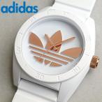 アディダス adidas サンティアゴ ADH2918 ホワイト メンズ レディース 腕時計 ローズゴールド ピンクゴールド