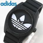 アディダス adidas サンティアゴ ADH6167 ブラック メンズ レディース 腕時計 黒