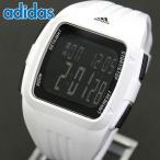 チョコタオル付 adidas アディダス DURAMO デュラモ クオーツ ADP3260 海外モデル デジタル メンズ 腕時計 ブラック ホワイト ウレタン バンド