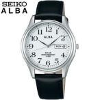 ポイント最大17倍 SEIKO セイコー ALBA アルバ AEFD543 国内正規品 メンズ 腕時計 革バンド ソーラー 黒 ブラック