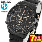 ストアポイント10倍 レビュー7年保証 SEIKO セイコー WIRED ワイアード AGAW440 国内正規品 メンズ 腕時計 黒 ブラック 金 ピンクゴールド メタル