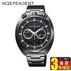 シチズン インディペンデント 時計 メンズ クロノグラフ 10気圧防水 カレンダー BA7-042-51 CITIZEN INDEPENDENT 国内正規品 腕時計 ブラック