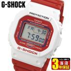 G-SHOCK Gショック CASIO カシオ カレンダー DW-5600TB-4A THROW BACK 1983 デジタル メンズ 腕時計 レビュー3年保証 海外モデル 白 ホワイト 赤 レッド