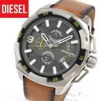 DIESEL ディーゼル DZ4393 海外モデル HEAVYWEIGHT ヘビーウェイト アナログ メンズ 腕時計 白系 グレー 黄色 イエロー 茶 ブラウン レザー