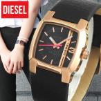 DIESEL ディーゼル DZ5441海外モデル CLIFFHANGERクリフハンガー アナログ レディース腕時計 黒 ブラック 金 ピンクゴールド 革バンド レザー