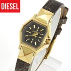 DIESEL ディーゼル DZ5491 ゼット バック アップ グレー ゴールド メタリック レディース 腕時計 レザー カジュアル バレンタイン