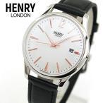 HENRY LONDON ヘンリーロンドン HENRY-HL39-S-0005 海外モデル HIGHGATE ハイゲート メンズ レディース 腕時計 ブラック シルバー 革バンド レザー